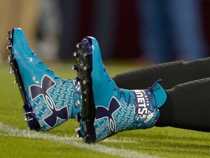 from-college-football-under-armour-would-make-a-leap-to-the-nfl-here-are-the-cleats-of-carolina-panthers-quarterback-cam-newton